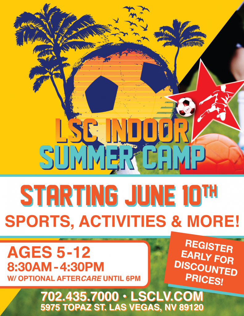 INDOOR Summer Camps Begin at Longevity Sports Center - Las Vegas  @ Longevity Sports Center | Las Vegas | Nevada | United States