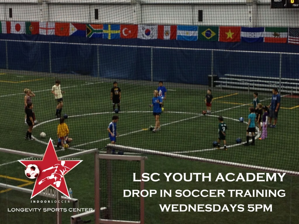 LSC Youth Academy - Drop in INDOOR Soccer practice for kids 6-14 years  @ Longevity Sports Center | Las Vegas | Nevada | United States
