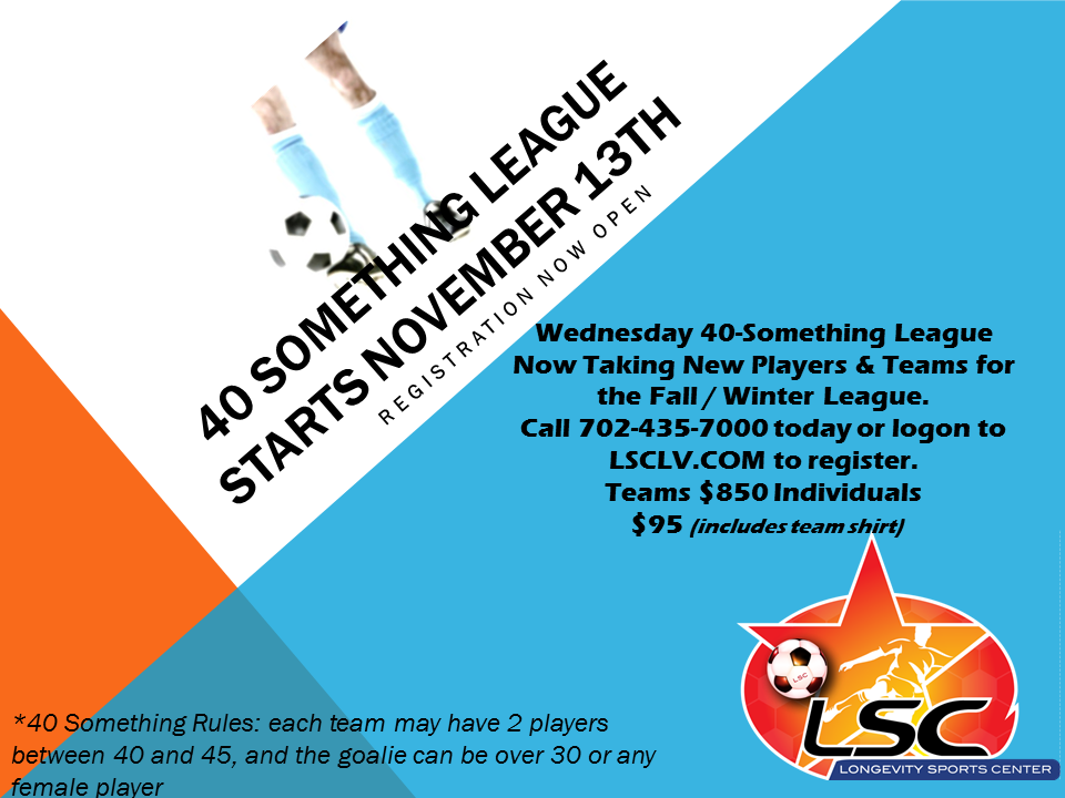 40 Something League Starts November 13th