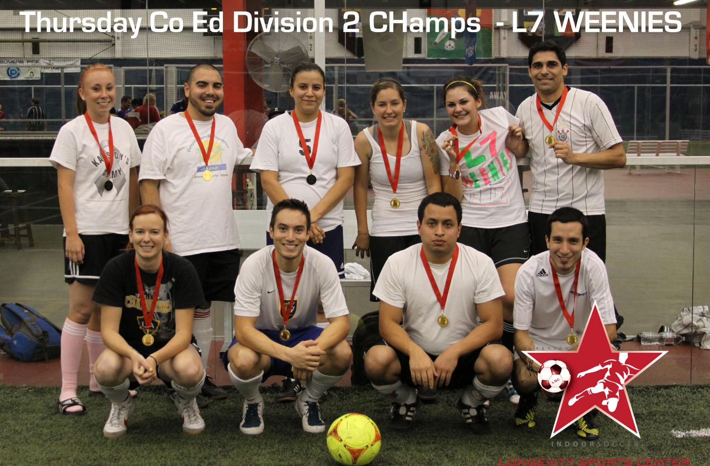 Thursday Co Ed Indoor Soccer Champions At Longevity Sports Center